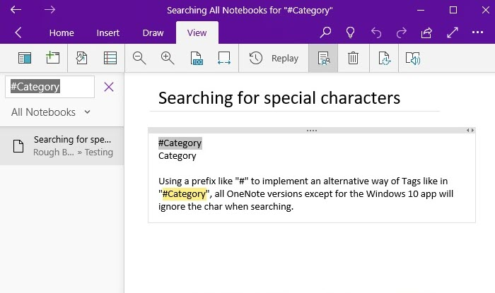 Windows 10: Use Special Chars as Prefix for Text-Based Tags